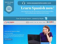 Spanish classes via Skype only 8.00 USD/h