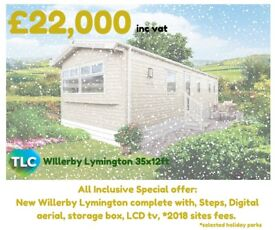 All Inclusive Special Offer Willerby Lymington 35ft x 12ft ONLY £22,000 Includes Selected Site Fees
