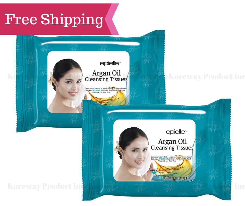 Kareway Epielle Argan Oil Makeup Remover Cleaning Towelettes
