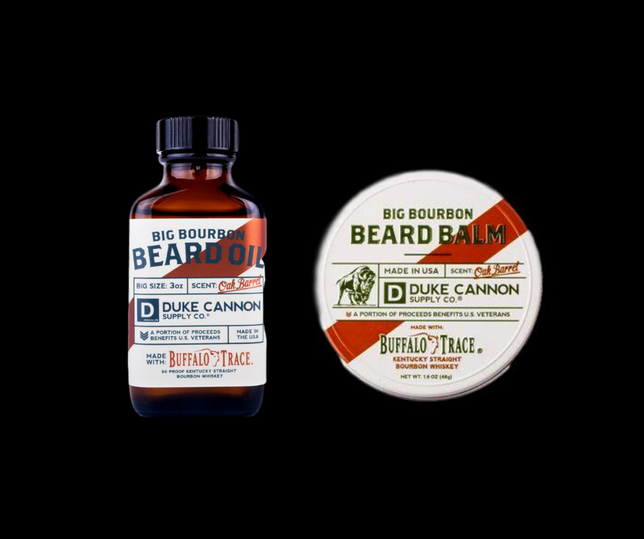 Beard Oil & Balm Duke Cannon Big Bourbon Set Oak Barrel Men'