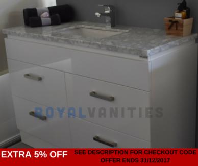 Marble Bathroom Vanity 1200 mm Freestanding