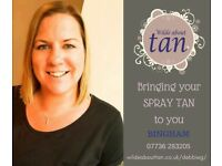 5* Mobile Spray Tanning With 120 5* Reviews. Wilde About Tan - Bingham