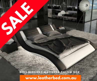 🛏 CLEARANCE SALE LEATHER BED FREE SHIPPING KING QUEEN ADELAIDE
