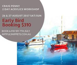 Acrylic Painting Workshop with Craig Penny! Beaches & Landscapes Salisbury Brisbane South West Preview