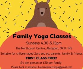 Family yoga in Abingdon! Sundays 4.30-5.15pm