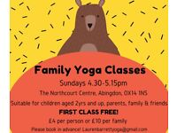 Family yoga in Abingdon! Sundays 4.30-5.15pm