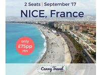 2 x Return flights to Nice, France from London REDUCED > NOW ONLY £75pp