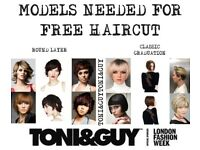 FREE HAIRCUT FROM HIGHLY EXPERIENCED TONI&GUY EXPERT