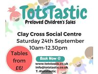 Preloved Children's Sale - Make some extra cash or bag a bargain!! Stalls from £6!!