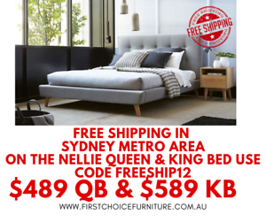 Nellie Queen or King Bed - Free Delivery Sydney Metro