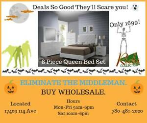 SCARY GOOD DEALS !!! 8pc Premium Queen Bedroom Set for 1699 Only !!!
