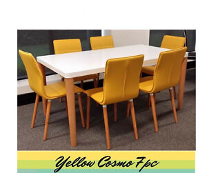 Yellow Cosmo 7pc Dining Sets Punchbowl Canterbury Area Preview