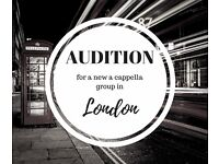 Auditioning members for a fun A Cappella Group