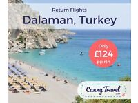 **LATE DEAL DALAMAN** 2 x Return flights to Dalaman, 14 nights flying out this weekend!