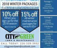 Snow removal discounts!