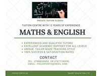 MATHS & ENGLISH PRIVATE TUITION