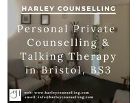 Harley Counselling - professional private counsellor offering talking therapy in Southville, BS3