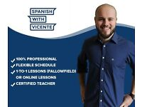 Spanish teacher/tutor DELE exam/adult learners. FREE TRIAL. From £12 (Online) £20 (Fallowf...