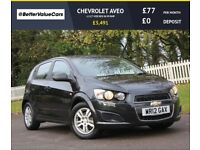 CHEVROLET AVEO 1.2 LT VCDI ECO 5d 95 BHP RAC WARRANTY + BREAKDOWN COVER!! (black) 2012