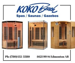 Indoor and outdoor home saunas