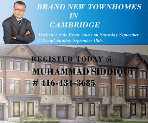 Luxury Town Homes in Cambridge from $490,000