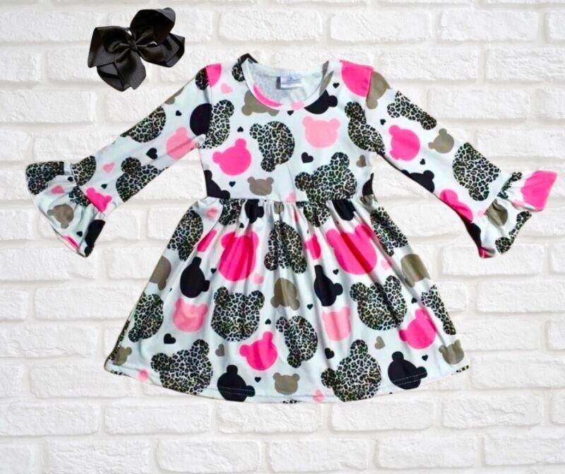 Minnie Inspired Valentines Birthday Dress Leopard Print NWT All Sizes Dress
