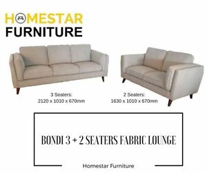 Brand New Bondi 3 Seaters + 2 Seater Fabric Lounge Sydney City Inner Sydney Preview