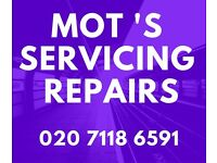 CAR SERVICING - MOT TESTING - CAR REPAIRS - Walthamstow Central Garage - MOT TEST OFFER £39