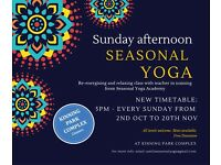 FREE Yoga classes Sunday afternoon