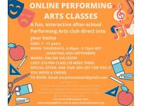 Online After School Performing Arts Classes