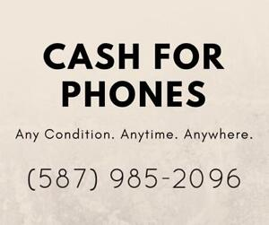 I am willing to buy your smartphones for cash.