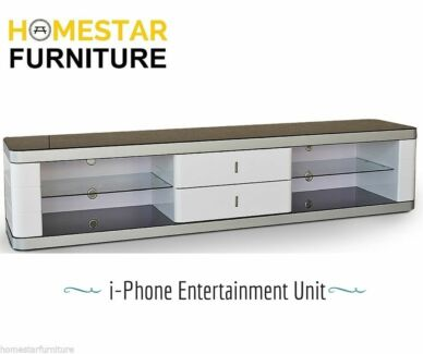 IPhone Entertainment Unit,Tempered Glass Top,Stable and Durable