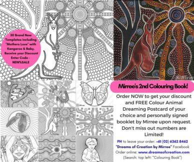 Contemporary Aboriginal Art Colouring Book with 50 Templates