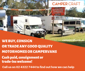 Motorhomes & Campervans Wanted - Cash Paid, Consignment or Trade-in West Gosford Gosford Area Preview