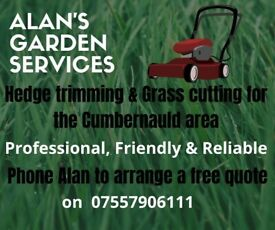 Gardening Services for the Cumbernauld area. Grass cutting, hedges etc