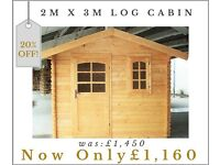 Garden Shed/Cabin 2.0m x 3.0m