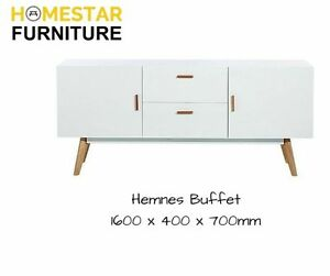 Hemnes White and Solid Oak Side Buffet,Popular Scandinavian Style Punchbowl Canterbury Area Preview