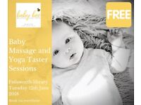 Free baby massage and baby yoga taster sessions