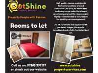 High Quality Rooms available to let around Doncaster!