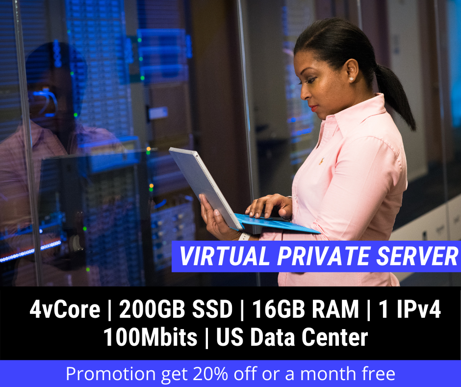 Virtual Private Server - 4vCore 16GB RAM 200GB SSD 1x IPv4 US - $24.95