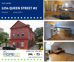 Hfx - South End 3Br Upper Flat  ALL Utilities Incl Avail Sept 1