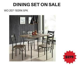 Distressed Grey Dining Table Sale-WO 7717 (BD-2604)