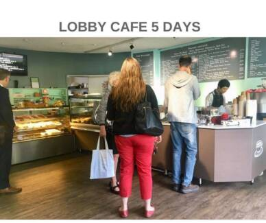 5 DAY LOBBY CAFE - BUSY MEDICAL CENTRE