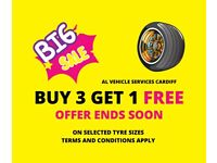 Mobile Tyre Fitting Cardiff - 4 New Tyres Fully Fitted From £165