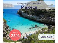 SAVE OVER 25% OFF THE CURRENT PRICE Cancellation! Package Holiday for3, flying from Bristol to Palma