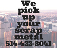 SCRAP METAL pick up