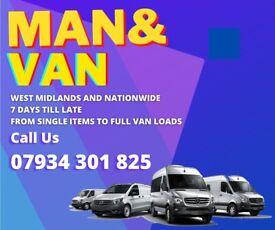 MAN AND VAN SAME DAY CHEAP 07 934 301 825