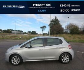 image for PEUGEOT 208 1.4 HDI ACTIVE 2014,Bluetooth,DAB,Cruise,Air Con,74mpg,Zero Road Tax,F.S.H