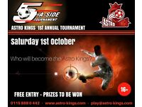 Teams/ players wanted for FREE five-a-side tournament - 1st October