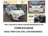 ON BENEFITS ? NEED A CAR ? GIVE US A TRY.....NEW SHAPE FORD KA......representative apr 12% flat